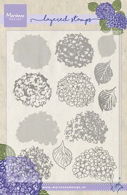 Clear Stamp Tiny`s hydrangea (layering)