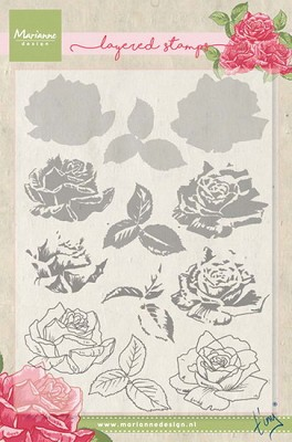 Clear Stamp Tiny`s rose (layering)