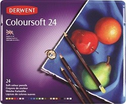 Derwent Coloursoft Blik 24 potloden