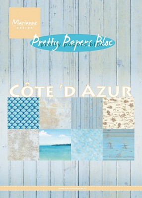Pretty Papers bloc Cote d`Azur