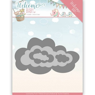Dies - Yvonne Creations - Welcome Baby -Nesting Clouds