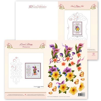 3D Card Embroidery Pattern Sheet #21 with Ann & Laura