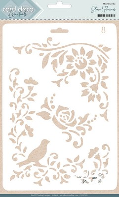 Card Deco Essentials - Stencil Flowers