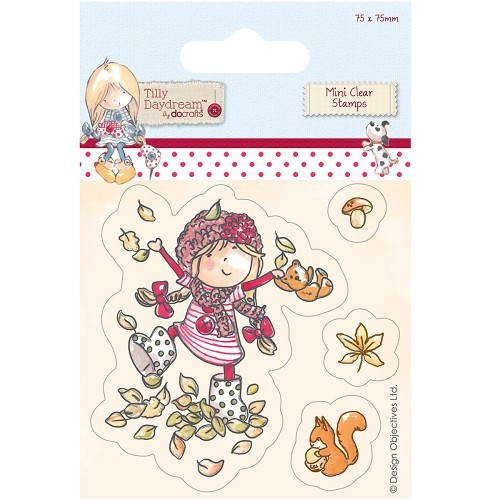 75 x 75mm Mini Clear Stamp - Tilly Daydream - Leaves